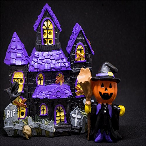 CSFOTO 8x8ft Halloween Background Halloween Pumpkins Ghost House Scary Doll Photography Backdrop Haunted House Holiday Party Decor Funny Horror Ornament Children Portrait Studio Props Wallpaper -