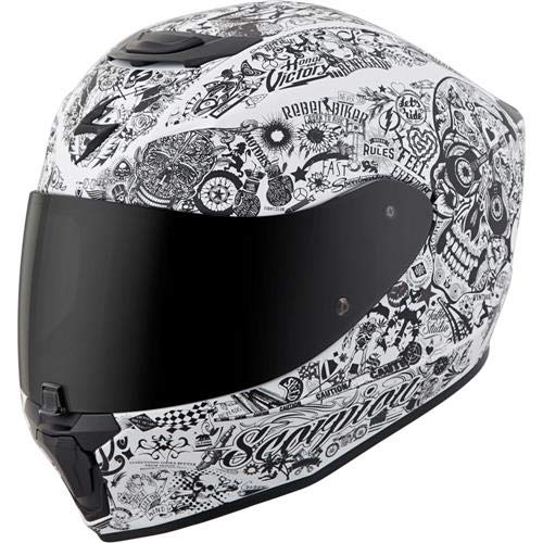 Scorpion Unisex-Adult Full-face-Helmet-Style Shake (White, Large) ()
