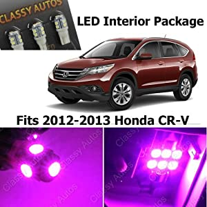 classy autos honda cr v pink interior led package 4 pieces 2012 2013 automotive. Black Bedroom Furniture Sets. Home Design Ideas