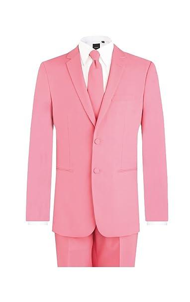 e03d6d40c85f d/Spoke Mens Candy Pink 2 Piece Suit Regular Fit Notch Lapel Novelty  Partywear: Amazon.co.uk: Clothing