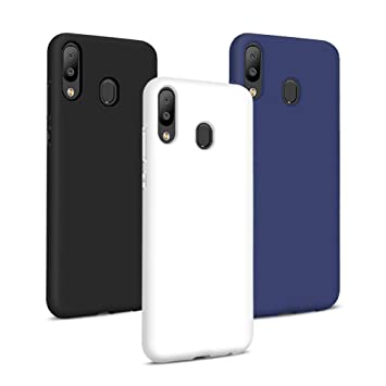 TVVT 3X Compatible con Funda Samsung Galaxy A40, Ultra Delgado Color Suave TPU Carcasa Ultraligero Protectora Back Case Cover Anti Rasguños Choque ...
