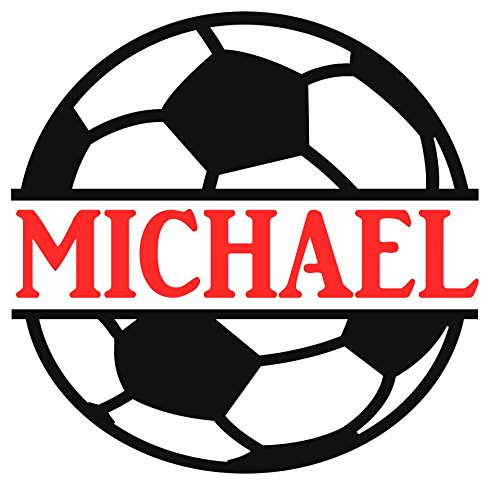 Personalized Soccer Ball Name Decal Sticker for Yeti Cups, Tumblers, Laptops, Car (Soccer Window)