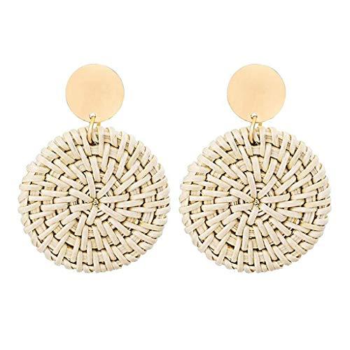 MURTIAL Earrings for Women Rattan Earrings Handmade Straw Wicker Braid Drop Dangle Earrings Fashion Jewelry