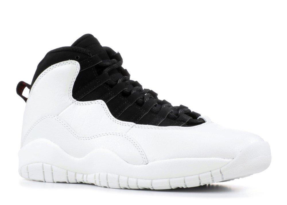 Nike Herren Air Jordan 10 Retro Weiszlig; Leder/Synthetik/Textil Sneaker  95|Wei? (White/Black/University Red/Summit White)