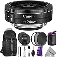 Canon EF-S 24mm f/2.8 STM Lens w/ Essential Bundle - Includes: Camera Sling Backpack, Altura Photo UV-CPL-ND4, Neoprene Lens Pouch, Camera Cleaning Set Explained Review Image
