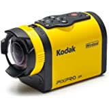 """Kodak PIXPRO SP1 Action Cam with Explorer Pack 14 MP Water/Shock/Freeze/Dust Proof, Full HD 1080p Video, Digital Camera and 1.5"""" LCD Screen (Yellow)"""