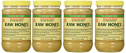 Y.s. Eco Bee Farms Raw Honey - 22 Oz Jars (4 Count (22oz Each)) (Ys Eco Bee Farms Organic Raw Honey)