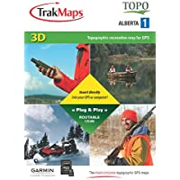 TrakMaps TOPO Alberta 1 for Garmin GPS with Back Roads