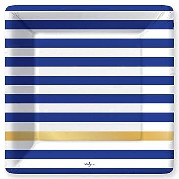 Kenzie-Navy Dinner Paper Plates  sc 1 st  Amazon.com & Amazon.com: Kenzie-Navy Dinner Paper Plates: Kitchen u0026 Dining