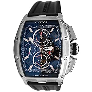Cvstos challenge chrono automatic stainless steel case black rubber anti for Anti reflective watches