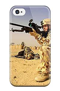 Protective Tpu Case With Fashion Design For Iphone 4/4s (sniper Military)