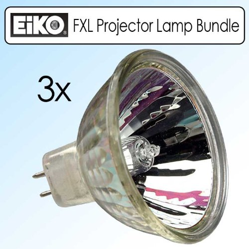 EIKO FXL 82V/410W GY5.3 Base Overhead Projector Lamp Bundle Of 3 - Fxl Lamp