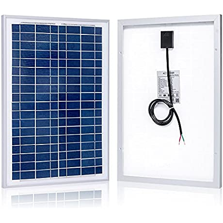 ACOPOWER 25 Watt 25W Polycrystalline Photovoltaic PV Solar Panel Module For 12 Volt Battery Charger