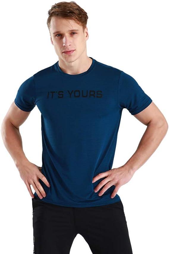 Camiseta para Hombre, Verano Manga Corta Gym Chándal de Hombres ...
