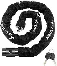 Chain Bicycle Lock, Sportneer Bike Lock Anti-Theft Cut Resistance Bicycle Chain Lock with 2 Keys for Bike Scoo