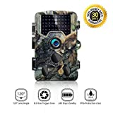 Trail Camera - 16MP HD Trail Camera, 65ft Night Vision Infrared Trail Camera, 1080P HD Video Hunting Camera by SOVACAM, Up to 0.2S Trigger Time, IP 56, Camouflage