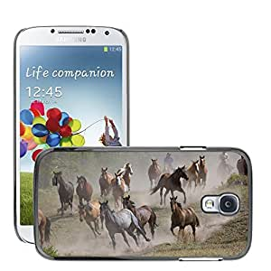 Hot Style Cell Phone PC Hard Case Cover // M00046172 montana roundup animals horses horse // Samsung Galaxy S4 i9500