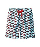 Vilebrequin Kids Boy's Fishnet Swim Trunk (Big Kids) Blue Swimsuit Bottoms