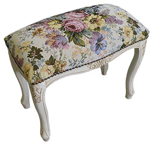 パシフィックGLD イタリア製 クラシカルな椅子 スツール S ホワイト×フラワー 51198 47×43.5 B00UWG1DDK Small|ホワイト×フラワー ホワイト×フラワー Small