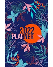 2022 Planner: Weekly Agenda Week To View   5 x 8 Dated Organizer   Monday Start Appointment Calendar   Scheduler Mini Book   Soft-Cover Floral