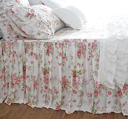 Shabby Rose Floral Bedspreads Coverlet Chic Printed Bedspread Bedskirts Shabby Chic Shabby Bedskirt