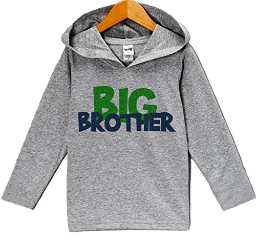 Custom Party Shop Baby Boy's Novelty Big Brother Hoodie Pullover 2T (Big Brother Hooded Sweatshirt)