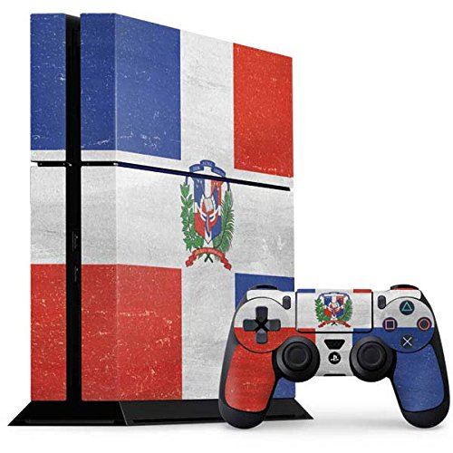 Countries of the World PS4 Console and Controller Bundle Skin - Dominican Republic Flag Distressed   Skinit Lifestyle (Dominican Republic Bundle)