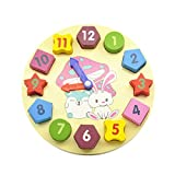 Wooden Blocks toys Digital Geometry Clock Toy Children's Montessori Educational Toy For Baby Boy Girl