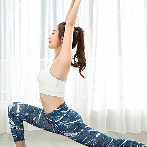 BELLEZIVA--Sujetador de fitness para mujer (transpirable, contra choque, fitness, correr) Blanco