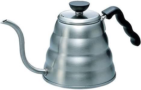 Hario Gooseneck Coffee Kettle 'Buono', Stovetop, 1.2L, Stainless Steel, Silver