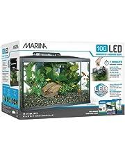 Marina Kit de Acuario con Iluminación LED 10G, 38 L