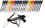 Crossbow 80 LBS with Built in Arrow Holder – 27 FREE Arrows – National Standard Products® (Balck Aluminum) For Sale