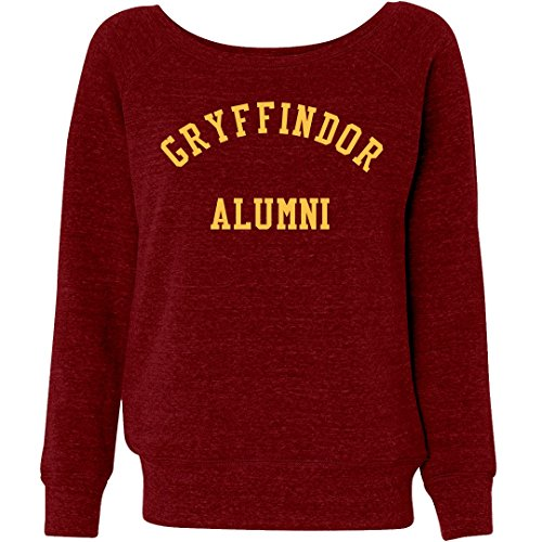 Customized Girl Gryffindor Magic School Alumni: Ladies Triblend Wideneck Sweatshirt