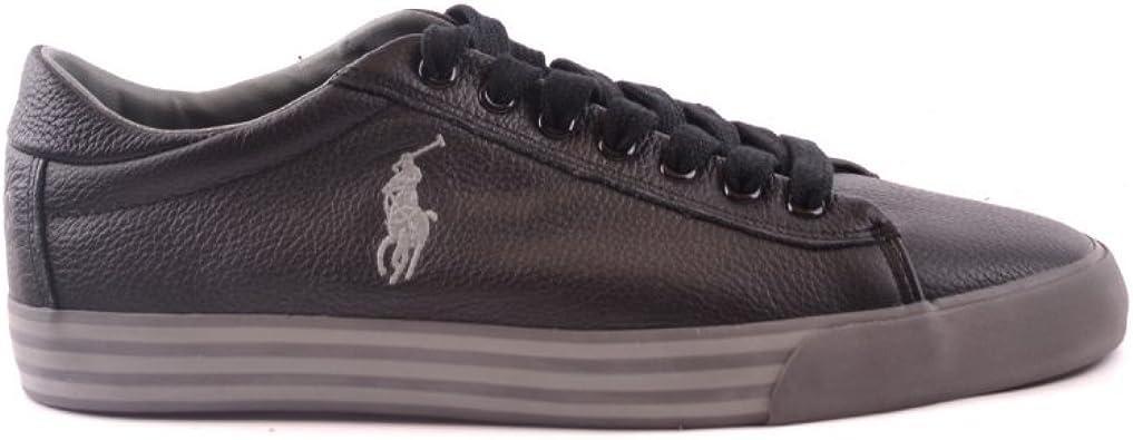 Polo RALPH LAUREN Harvey Cuero Negro Zapatos de Hombre ...
