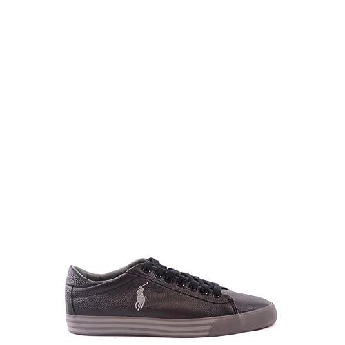 Ralph Lauren Polo Harvey Black Scarpe Uomo Sneakers Pelle 46  Amazon.it   Scarpe e borse 445415f2433