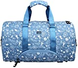Cheap Aftergen Vedic Duffel Yoga Bag, Weekender Shoe Compartment, Flower, Blue
