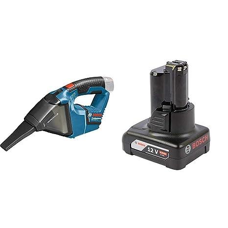 Ladegerät Bosch GAS 12 V Akku-Handstaubsauger Professional mit Akku 2 Ah