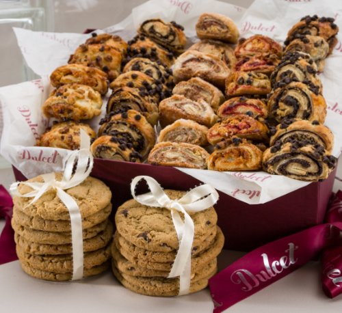 - Dulcet Gift Basket Sweet Success Gourmet Cookie Snacks ideal Gift Basket for Christmas Holiday Idea For Men & Women, Birthday, Get Well Corporate Baskets