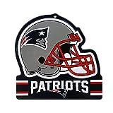 "Party Animal New England Patriots Embossed Metal NFL Helmet Sign, 8"" x 8"""