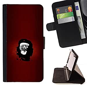 Momo Phone Case / Flip Funda de Cuero Case Cover - Rebel Che Troll Face - Funny Lol Meme - Samsung Galaxy S6 EDGE