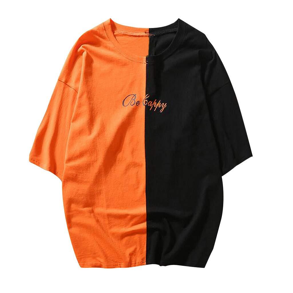Misaky Men Unisex Casual Teens Printed Smiling Face Fashion Print Top Blouse Misaky-Shirt-0318