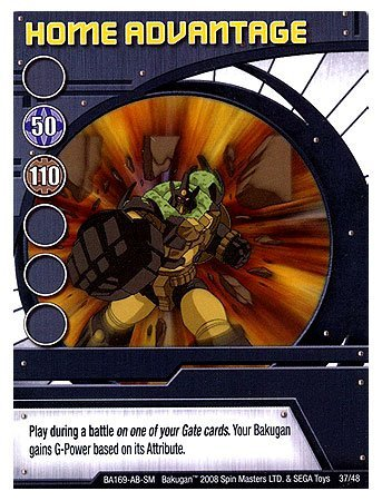 - Bakugan Special Ability Trading Card Home Advantage [Toy]