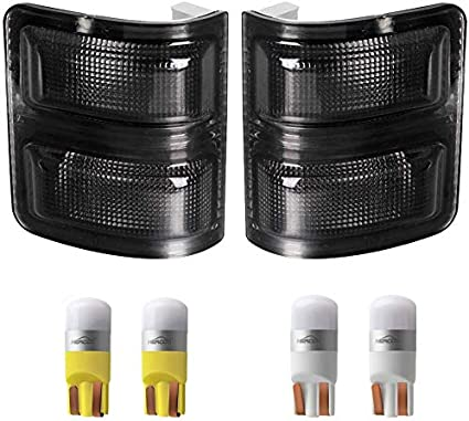 Smoke Lens LED Mirror Side Marker Lights for 2008-up Ford F250 F350 F450 F550 SD