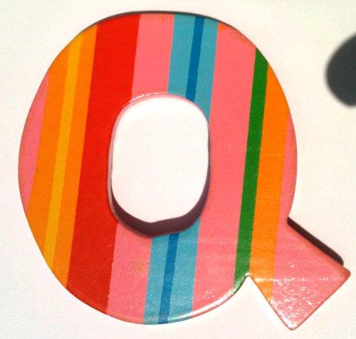 TATIRI Bright Multi-Color Alphabet WOODEN Letter STRIPES