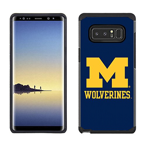 Prime Brands Group Textured Team Color Cell Phone Case for Samsung Galaxy Note 8 - NCAA Licensed University of Michigan Wolverines