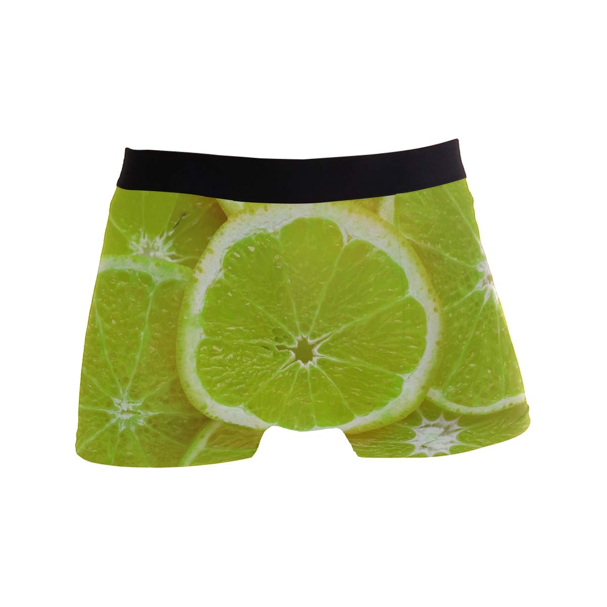 Hipster Unique Acid Background Citric Boxer Briefs Mens Underwear Boys Breathable Stretch Low Rise