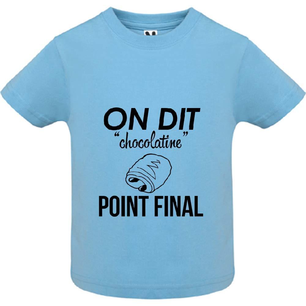 LookMyKase T-Shirt B/éb/é Gar/çon on Dit chocolatine Point Final