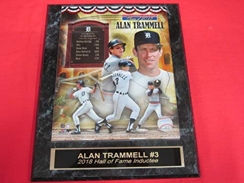 Tigers Alan TRAMMELL Collector Plaque w/8x10 Hall of Fame 2018 Photo!
