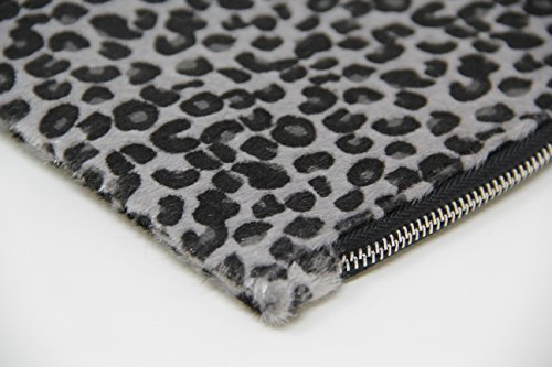 grey Clutch Women's Plus Leopard Purse 2 Patterns Closure Zipper Pouch Bag Wristlet Me Zcpn7qWc