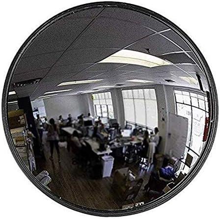 Geng カーブミラー ワイドアングルレンズブラックアンブレイカブルオフィスミラー安全通りやショップ検査ミラー